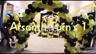 Bumble Bee Concept 1st Year Birthday Celebration for Baby Arsanth