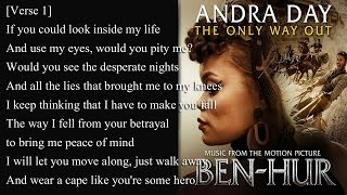 Andra Day - The Only Way Out (Lyrics)