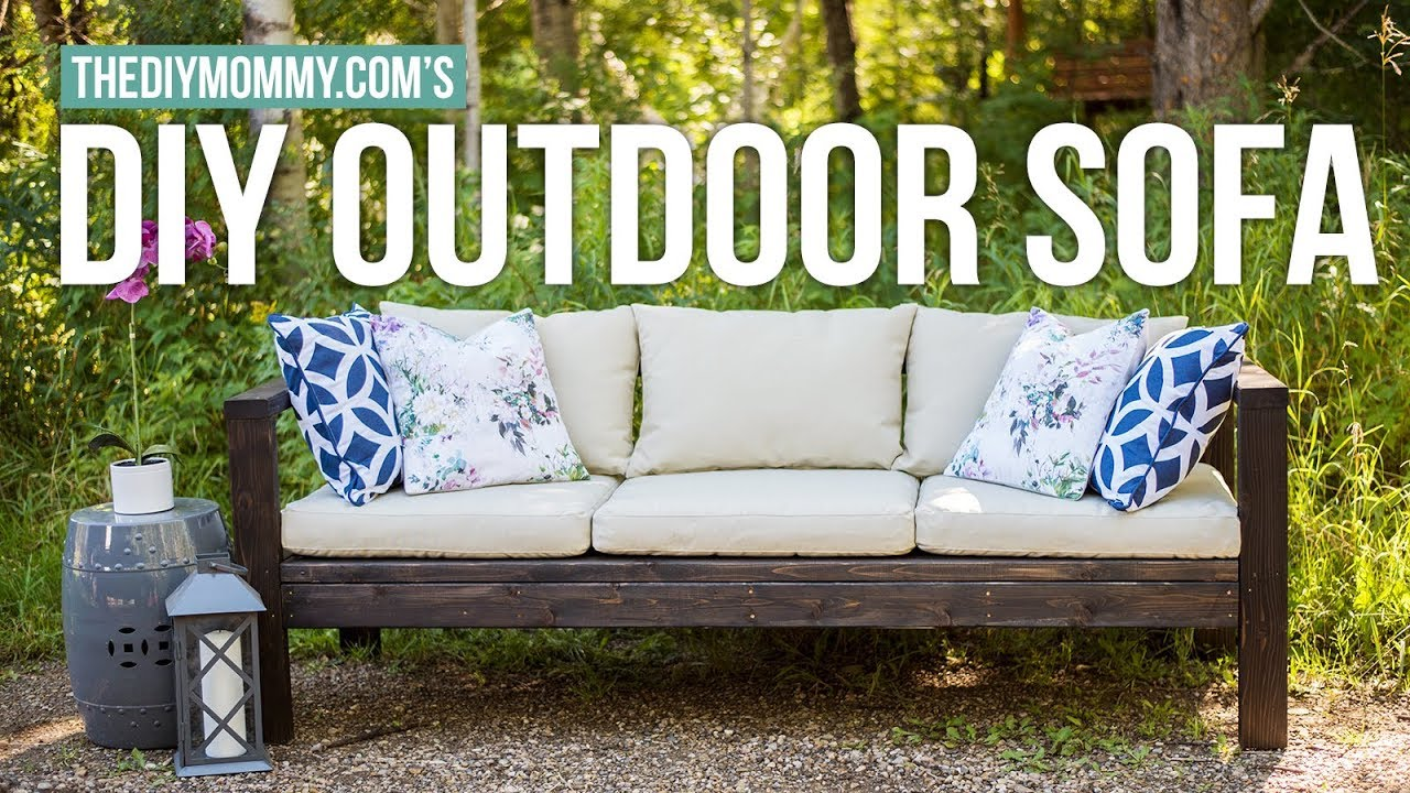 Outdoor Couch How To Make A Diy Outdoor Sofa Vlogust Day 21 The Diy Mommy