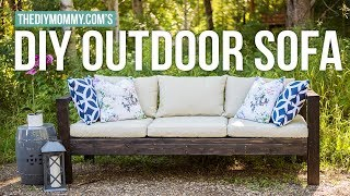 How to Make a DIY Outdoor Sofa | Vlogust Day 21 | The DIY Mommy