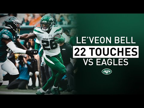 All 22 Touches By Le'Veon Bell In Week 5 Vs. Philadelphia | New York Jets | NFL