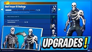 "*NEW* SKULL TROOPER OUTFIT ""Upgrades!"" (Skull Trooper V2 Skin UPGRADE!) - Fortnite: Battle Royale!"