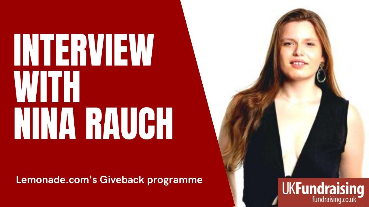 Nina Rauch on Lemonade's Giveback programme