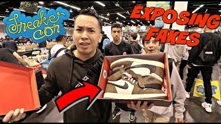 SAVING LIVES | EXPOSING FAKE TRAVIS SCOTT JORDAN 1 @ SNEAKERCON LA