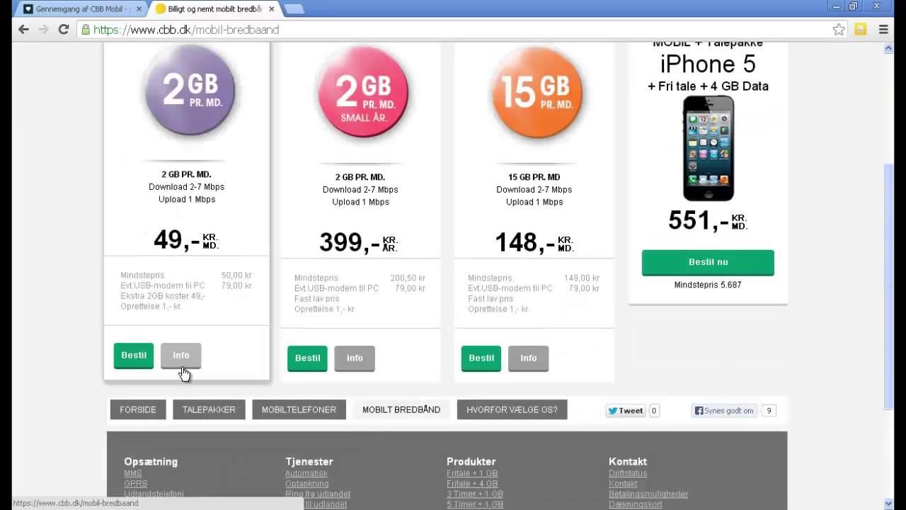 guide sådan køber du mobilt bredbånd via cbb dk youtube
