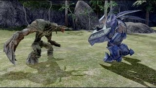 Halo 3 AI Battle - Flood Tanks vs Hunters