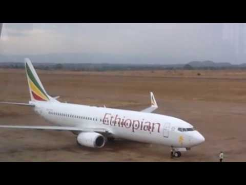 Ethiopian & Malawian Airlines Boeing at Chileka Intl Airport