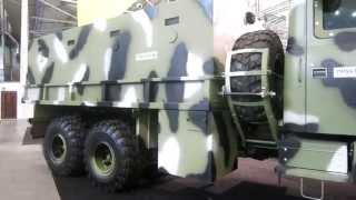 Бронеавтомобиль на базе КрАЗ-5322 - видео обзор(Видео обзор бронированного транспортного автомобиля на базе КрАЗ-5322 колесной формулы 4х4, представленного..., 2014-10-02T05:48:43.000Z)