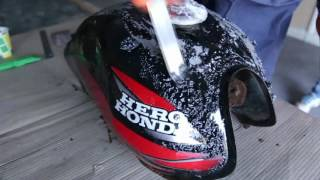Two wheeler repaint  how to paint