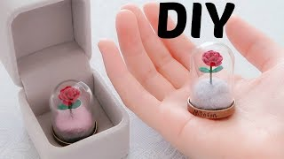 DIY Miniature Beauty and The Beast Inspired Enchanted Rose