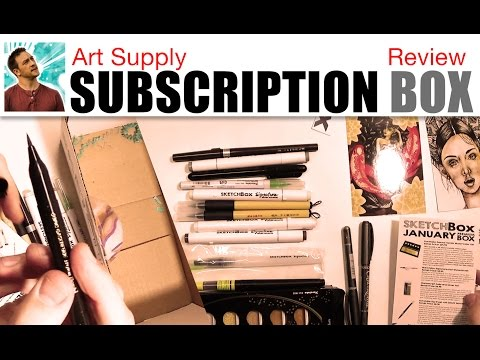 Art Supply Subscription Box Review (Sketch Box)