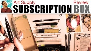 Art Supply Subscription Box Review (Sketch Box) thumbnail
