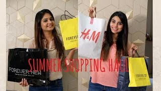 Summer shopping haul : Zara, HnM And Forever 21