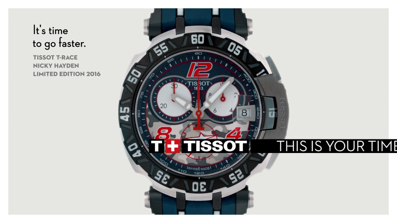 0931a2aa9bd Tissot T Race Nicky Hayden - 2016 - YouTube