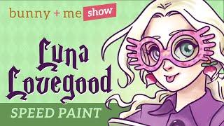 Luna Lovegood Speed Paint - Harry Potter Art