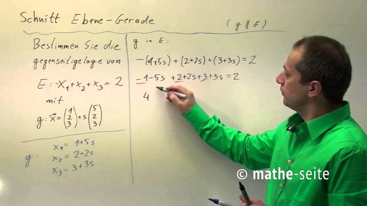 Schnittpunkt Gerade Ebene berechnen, Beispiel 3 | V.02.02 ...