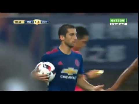 Манчестер Боруссия гол Мхитаряна. Goal Mkhitaryan Manchester United Vs Borussia Dortmund.