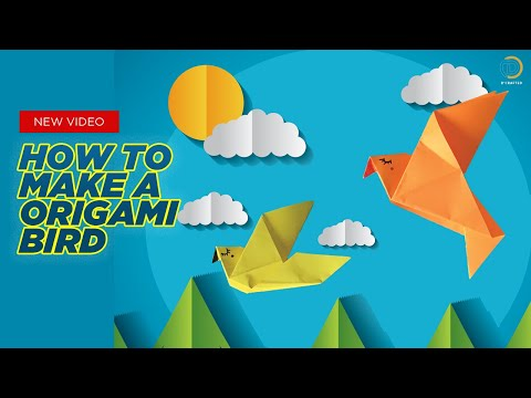 How To Make Origami Bird   Easy Origami Bird   Paper Crafts