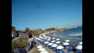 Meltemi beach, Chersonisos (Hersonissos), Crete, Greece. Пляж Мелтеми, Херсонисос, Крит, Греция.(Видео для блога: http://sergiisolodkyi.blogspot.com/, 2014-07-19T09:51:43.000Z)