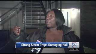Woman gives accurate description of hail storm!! KAPOOOYA!!