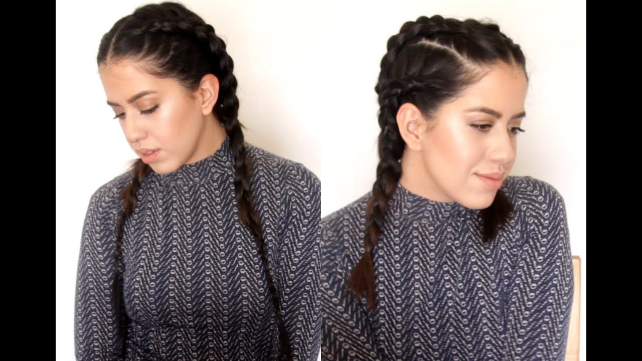 Kardashian Braids TUTORIAL/Dutch Braids/Trenzas Holandesas + Beauty by Nichi
