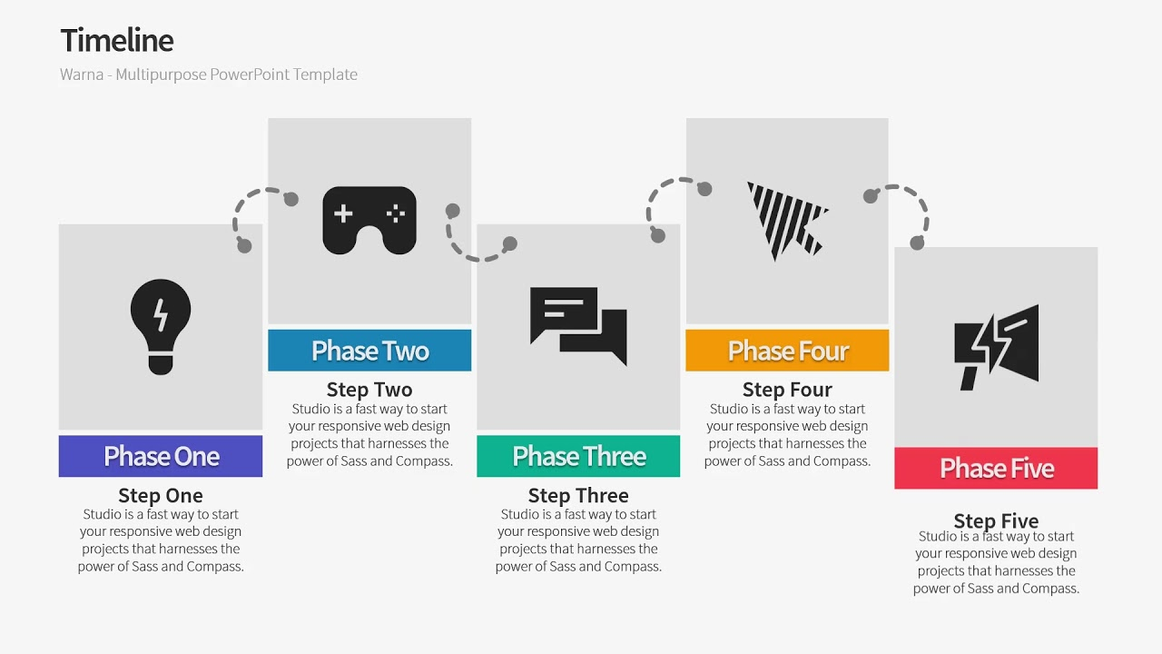 Timeline History Powerpoint Template Warna Slides Youtube
