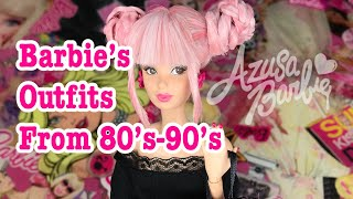 Barbie's Outfits from 80's-90's♡AZUSA BARBIE