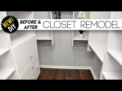 CLOSET Remodel // Surprising The Parents With A New Closet // Small closet Ideas