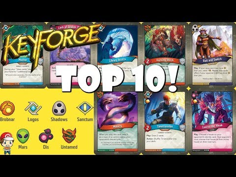 The Top 10 Best Keyforge Cards!