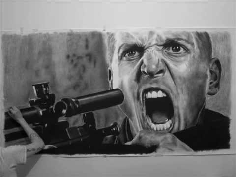 HUGE Saving Private Ryan - Barry Pepper Portrait by Barry Jazz Finnegan