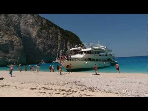 Navagio Beach - Shipwreck - Smugglers' Cove in Zakynthos Zante Island Greece