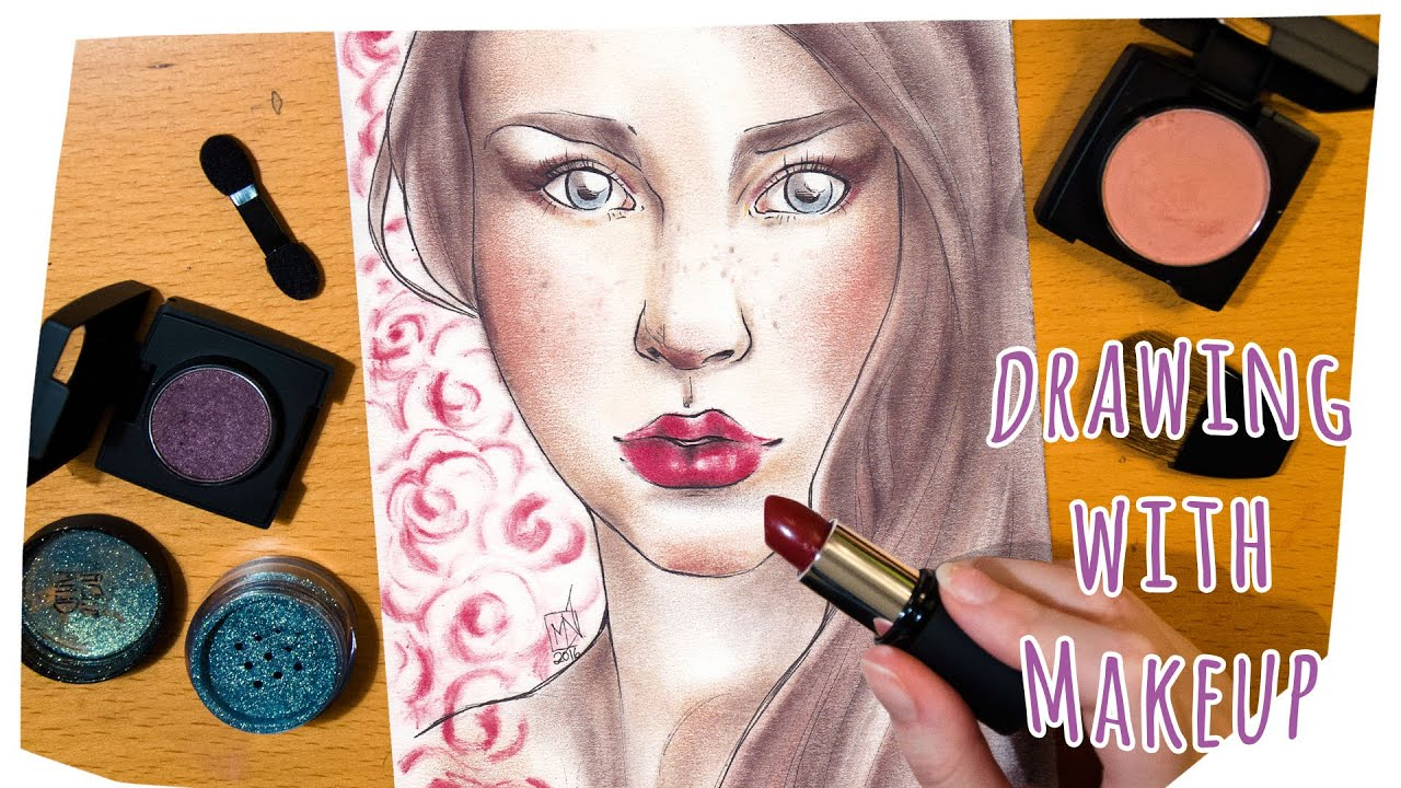 Drawing with makeup am i a makeup artist youtube for What is cosmetics made of