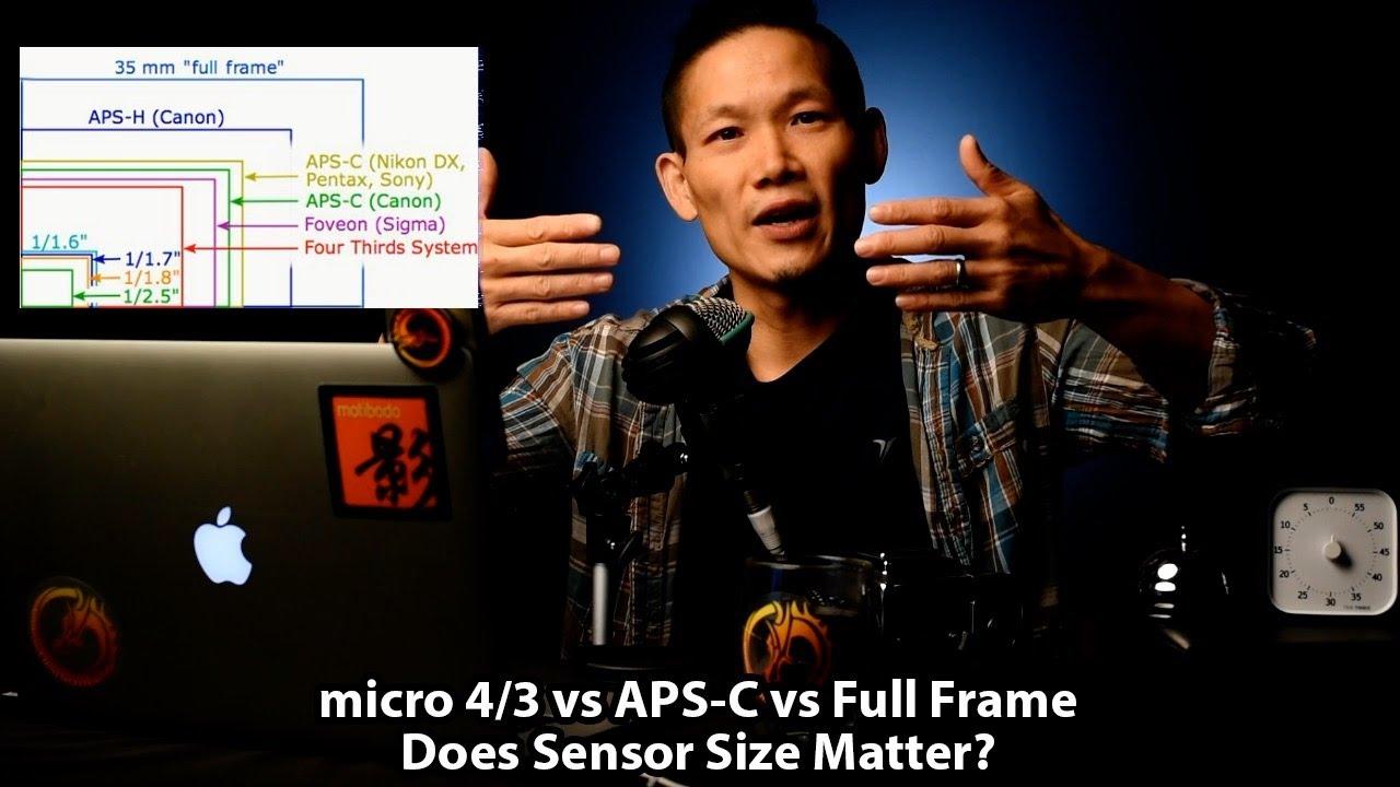 micro 4/3 vs APS-C vs Full Frame - Does (sensor) Size Matter? - YouTube