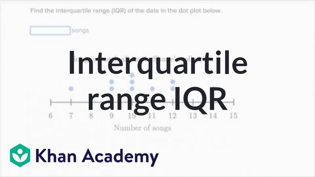 Interquartile range (IQR) (video) | Khan Academy