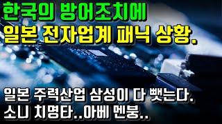 한국의 방어조치에 일본 전자업계 패닉 상황. 일본 주력산업 삼성이 다 뺏는다. 소니 치명타.. 아베 멘붕..
