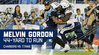 Philip Rivers & Melvin Gordon Connect for 44-Yard TD! | Chargers vs. Titans | NFL