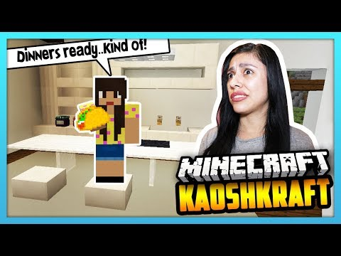 I ALMOST RUINED THE KITCHEN TRYING TO MAKE DINNER! - Minecraft Survival: KaoshKraft SMP 3 - EP 83