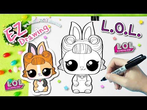 L.O.L.Surprise Doll Pet :Jitter Critter★HOW TO DRAW★EP#24★Series 3★Coloring Pages♥Tutorial For Kids♥
