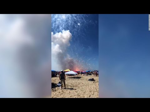 Fireworks meant for July 4th display in Maryland's Ocean City ...