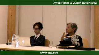 Avital Ronell and Judith Butler. Freud and non-violence. 2013