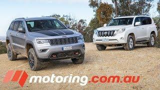 Jeep Grand Cherokee Trailhawk v Toyota LandCruiser Prado Altitude| motoring.com.au