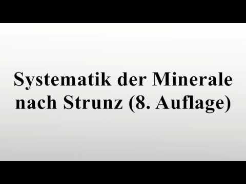Systematik der Minerale nach Strunz (8. Auflage)