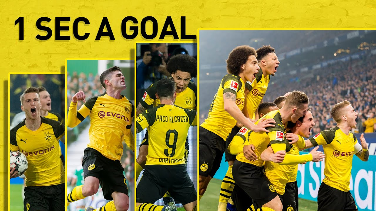 ALL 101 Goals of Borussia Dortmund 2018/19 |1 Second A Goal