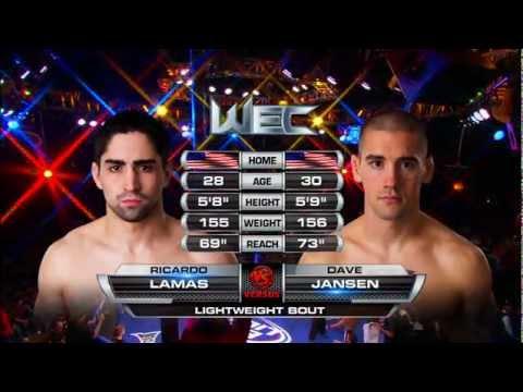 WEC 50: Ricardo Lamas vs Dave Jansen