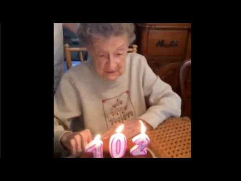 102 Year Old Woman Blows Out Birthday Candles With Her Dentures