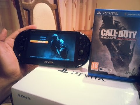 Call of duty black ops: Declassified Ps Vita Slim Gameplay/Unboxing