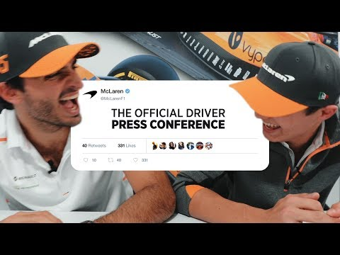 Official Driver Press Conference with Carlos Sainz and Lando Norris