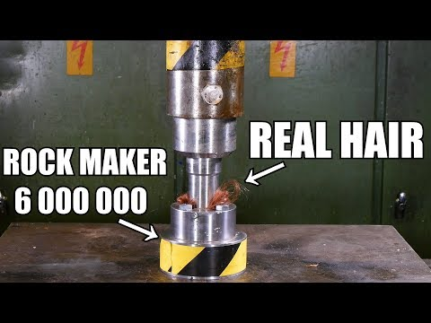 Can You Turn Hair to Stone with Hydraulic Press?