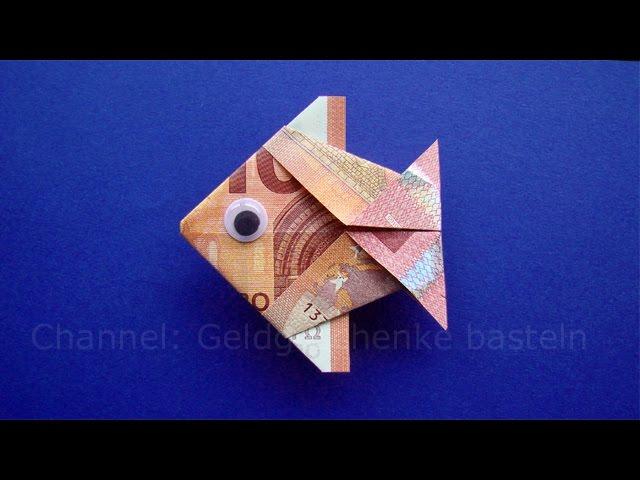 Geldscheine Falten Fisch Tiere Basteln Für Geldgeschenke Geld Falten Zur Hochzeit Origami