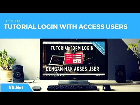 VB.Net - Tutorial Form Login With Access Right